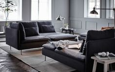 Bring more living to your living room with some of our favorite modular sofa set-ups using the SÖDERHAMN sofa.