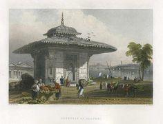 Turkey, Istanbul, Fountain at Scutari, 1838