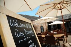 Topsham - The Quay Brasserie - Excellent for casual smart french cafe food - steak bagette and frites for lunch one of our favourites Exeter Devon, Pubs And Restaurants, French Cafe, Cafe Food, Steak, Lunch, Casual, French Coffee Shop, Eat Lunch
