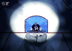 Maple Leafs' James Reimer stands in his crease before Game 3 of their NHL Eastern Conference Quarterfinal hockey playoff series against the Boston Bruins Hockey Playoffs, Nhl, James Reimer, Maple Leafs Hockey, Eastern Conference, Wayne Gretzky, American Sports, Game 3, Toronto Maple Leafs