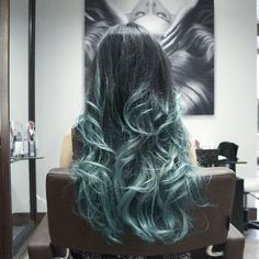 "Mermaid hair and love this colour fade. VP Fashion will give you $10.00 of hair extensions with the code ""louisepin"". x"