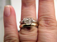 Herkimer Diamond Solitaire ring  simple by bezaleljewels on Etsy, $125.00