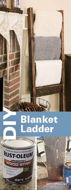 Blanket Ladder -Home Decor - would love to have something like this in the living room! Perfect for a family room, or in a large bathroom with towels My Living Room, Home And Living, Rustic Living Room Decor, Loving Room Decor, Living Room Corner Decor, Living Room Storage, Rustic Decor, Wooden Blanket Ladder, Quilt Ladder