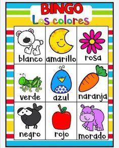 Juego bingo de los colores para aprender los colores Games For Kids, Diy For Kids, Kid Games, Elementary Spanish, Sensory Play, Toddler Activities, Back To School, Baby Kids, Homeschool