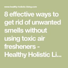 8 effective ways to get rid of unwanted smells without using toxic air fresheners - Healthy Holistic Living