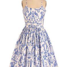 Bernie Dexter Two if by Tea Dress | Mod Retro Vintage Dresses | ModCloth.com