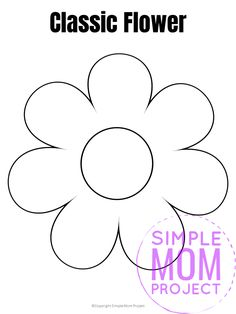 Use this free printable flower template as a fun pumpkin carving stencil, felt pattern, sun catcher, a printable flower coloring sheet or a Mother's day card! Diy Crafts For Girls, Mothers Day Crafts For Kids, Holiday Crafts For Kids, Kids Crafts, Printable Crafts, Printable Flower, Templates Printable Free, Mothers Day Coloring Pages, Cool Coloring Pages