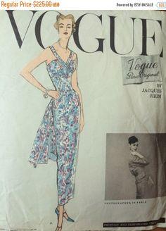 ON SALE Rare Vogue Paris Original Jacques Heim by 4EverInVogue