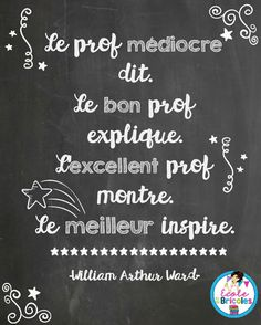 Teachers Week, Back To College, Tell My Story, Quote Citation, French Quotes, Motivation, Positive Affirmations, Teacher Gifts, Quotations