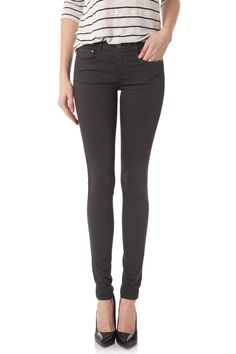 Skinny denim color pant LANA Anthracite by Cimarron jeans - Color denim pant - summer style #cimarronparis