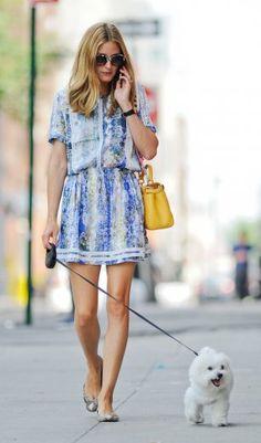 Olivia Palermo setzt bei hohen Temperaturen auf ein luftiges Outfit
