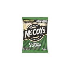 Ostchips: 3/5 McCoy's Cheese & Onion 50g: bra chips med knaprig fyllighet av potatis, men tyvärr ingen ostsmak att tala om.