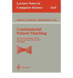 Introducing Combinatorial Pattern Matching Annual Symposium CPM 94 Asilomar CA USA June 58 1994  Proceedings 5th Proceedings Lecture Notes in Computer Science Paperback  Common. It is a great product and follow us for more updates!
