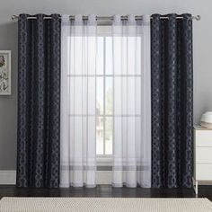 Image result for layering drapes for wide windows
