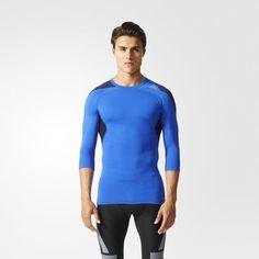 adidas Infinite Series Techfit Cool T-Shirt - blau