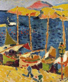 """bofransson: """"ANDRÉ DERAIN (1880-1954) BATEAUX AU PORT DE COLLIOURE """""""