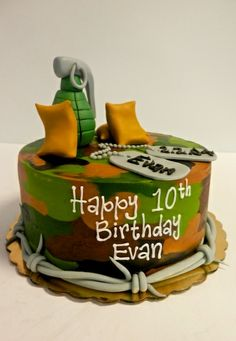Camo cake #boysbirthdaycake #birthdaycakesaustin