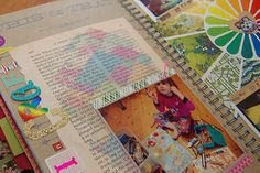 Sneak Peaks of My Smashbook – Making Your Own Paper | Jennifer Perkins