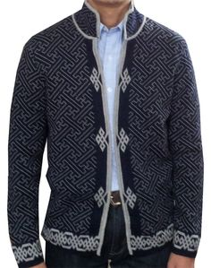Men's jacket (sheep wool) [sheepwoolJaket-red] : Mongolian shop, mongolian products