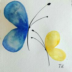 watercolour-butterflies-watercolor-butterflies-colours-simplicity-inspired/ - The world's most private search engine Watercolor Paintings For Beginners, Art Watercolor, Butterfly Watercolor, Butterfly Art, Simple Watercolor, Watercolor Animals, Watercolor Techniques, Watercolor Background, Watercolor Landscape