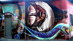 street art in santiago de chile barrio belavista and patronato arte callejero