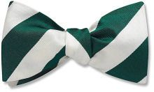 Collegiate Green and White - bow tie
