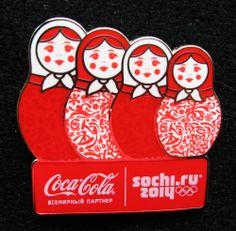 2014 Sochi Olympics COKE COCA COLA Pin Badge
