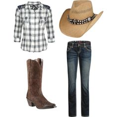 """""""Cowgirl Fashion"""" by sierramckskye on Polyvore  Very casual :)"""
