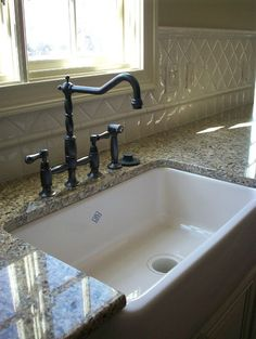 Will have a farmhouse sink someday.