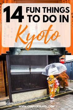 In this post I share 14 fun things you can do in Kyoto, Japan! It includes the must sees in Kyoto, such as Fushimi Inari Shrine, Gion, Arashiyama Bamboo Grove, Nijo Castle and more. #Kyoto #Japan