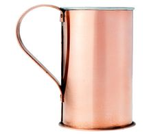 When sipping from this tall copper cup, your drink is literally steeped in history. Made of 100% pure copper, the cup was originally created in 1819 by an American copperware manufacturer. The hot-tinned interior provides resistance against corrosion and rust. Each cup is individually handmade, so imperfections are expected and contribute to the uniqueness of your vessel.