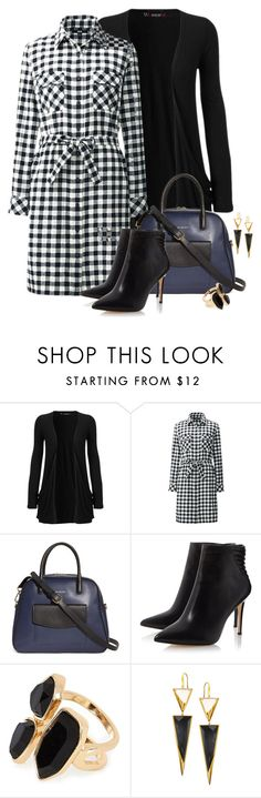 """""""check work dress n cardi"""" by danigrll ❤ liked on Polyvore featuring WearAll, Uniqlo, Vera Bradley, River Island and Lana"""