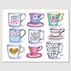 L&V Mug Collection - Print #Coffee #Gifts #Kitchen