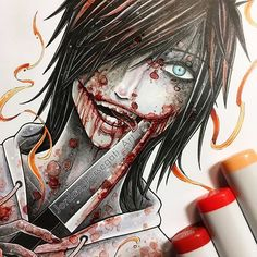Welcome to Creepypasta' world! Jeff The Killer, Arte Horror, Horror Art, Horror Movies, Creepypasta Girls, Creepypasta Slenderman, Copic Drawings, Creepy Drawings, Creepy Houses