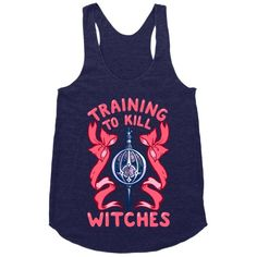 Training To Kill Witches #fitness #fashion #gym #style #workout #anime #racerback #tank #girly #magical #cute