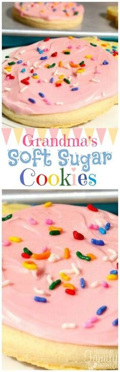 These Grandma's Soft Sugar Cookies taste like the ones from the store, but better. You will love how soft and chewy they are and the frosting is amazing!
