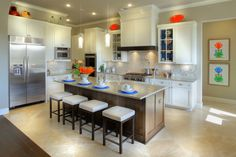 Drees model home gourmet kitchen in Sweetwater.