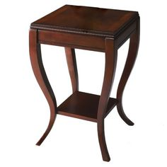 Shop Plantation Cherry Wood Shelves Side Table with great price, The Classy Home Furniture has the best selection of to choose from Wooden Sofa Set, Wooden Side Table, Side Tables, Living Room Stools, Dinning Room Tables, Table Furniture, Furniture Design, Bedroom Furniture, Cherry End Tables
