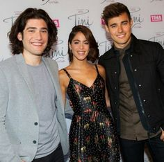 Adrian Salzedo, Tini Stoessel and Jorge Blanco in Netherlands