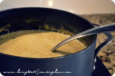 Cheesy Cream of Broccoli Soup {Recipe} - Living Well Spending Less™
