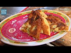 Scallion pancakes with pizza dough.  I'd love to put minced shrimp and ginger in the dough.