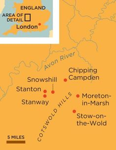 Cotswolds England map