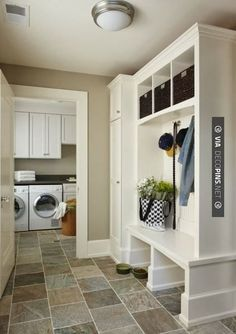 beautiful laundry room pictures | source and if i were to get really crazy wouldn t stripes be lovely ...