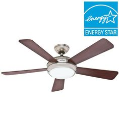 Hunter Palermo 52 In Indoor Brushed Nickel Ceiling Fan With Remote