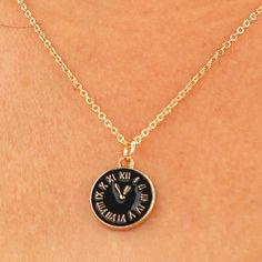 >> Click to Buy << NK948 European Cothic Punk Vintage Clavicle Black Clock Tiny Time Steampunk Pendant Necklace For Women Jewelry Chain collier #Affiliate