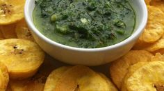 Scoop up a ceviche or some guacamole with these green plantain chips; a little sweet, a little salty, and really good!