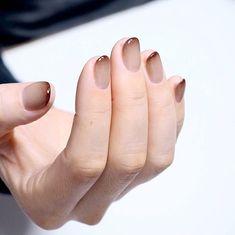essie nail polish, less is aura, beige nude nail polish, fl. Subtle Nails, Love Nails, Red Nails, Pretty Nails, Hair And Nails, Gradient Nails, Nail Art Designs, Short Nail Designs, Natural Gel Nails