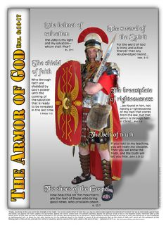 The Armor of GOD consists of the Girdle of Truth ,the Breastplate of Righteousness, the Shoes of the Gospel of Peace, the Shield of Faith, the Helmet of Salvation and the Sword of the Spirit. Sword Of The Spirit, The Company You Keep, Spiritus, Armor Of God, Bible Knowledge, Spiritual Warfare, Spiritual Life, Prayer Warrior, He Is Able