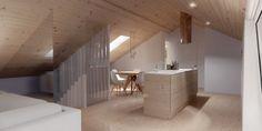Sótão da Família Oliveira #loftrenovation #loft #architecture #render #study…