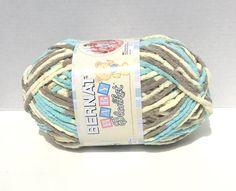 Bernat Baby Blanket Yarn in Beach Babe by kayscrochetpatterns